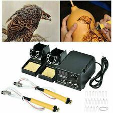 Multifunction Crafts 60W Wood Burning Pen Tool Pyrography Machine Set Kit Burner