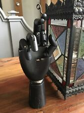 Wooden Mannequin Articulated Hand Form Black  Finish  Free Delivery Curio