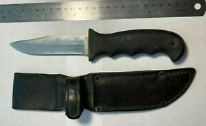 Cutco 5719 JC Hunting knife with leather sheath USA