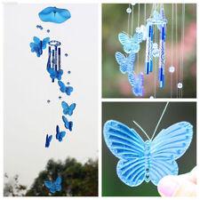Blue Butterfly Mobile Wind Chime Bell Garden Ornament Living Hanging Decor Art