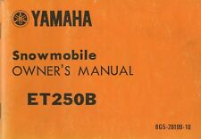 1978 YAMAHA SNOWMOBILE ET250B OWNERS MANUAL LIT-12628-00-09 (596)