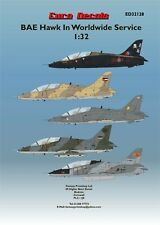 EURO DECALS BAE HAWKS IN WORLD WIDE SERVICE DECALS TRANSFERS  1/32  ED-32128