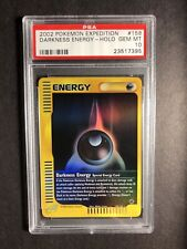 Pokemon PSA 10 Expedition 158 Darkness Energy Reverse Gem Mint 2002 WOTC