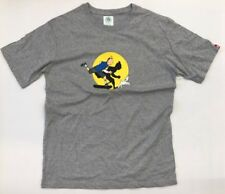 BURIED ALIVE BA Skate Tin Tin Grey T Shirt Streetwear Korea Hundreds Sz L