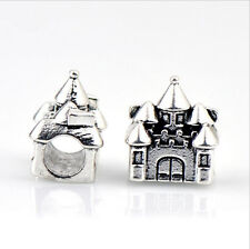 5PCS Charm Alloy  Big Hole Beads fit European Silver Bracelet DIY-- HJ015