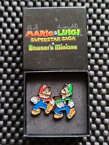 Mario Luigi Superstar Saga + Bowser's Minions Preorder Pin Badge Promo UK Rare y