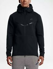 NIKE TECH FLEECE WINDRUNNER FULL ZIP HOODIE BLACK 805144-010 MEN'S SIZE SMALL