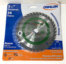 Oshlun Sbw-055036 5-1/2-Inch 36 Tooth Atb Finishing and Trimming Saw Blade wi.