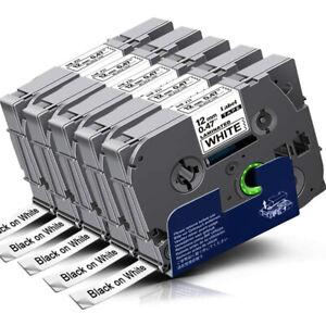 5x TZe231 TZ231 12mm Kompatibel Schriftband für Brother P-touch H100LB 1000 1010