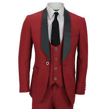 Mens 3 Piece Wedding Suit Shawl Lapel Slim Fit Dinner Jacket Waistcoat Trousers