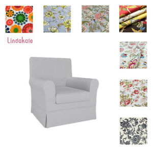 Custom Made Cover Fits IKEA Ektorp Jennylund Armchair, Patterned Fabric