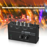 Ultra-compact Phono Preamp Preamplifier with Level & Volume Controls RCA P9U0