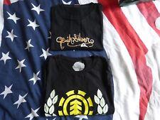 Lot 2 t-shirt noir homme Quiksilver, Element taille M L 100% coton