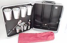 Swinging Platt Hardsided Briefcase Suitcase Travel Bar w/ Shot Glasses Tools ++