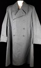 Vintage Swiss Army Military Wool Trench Coat  48BB Mens size Large