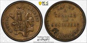 Great Britain 1900 ~40 Token PCGS AU55 Taylor & Challen Brass 24mm RE PC0968
