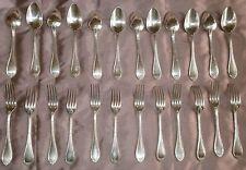12 couverts de ménagère en métal argenté - CAILAR BAYARD - modèle filets rubans