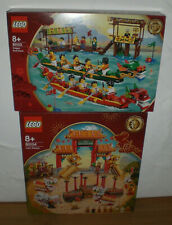 LEGO Exclusive 80103 + 80104 - Drachenbootrennen + Löwentanz - Lion Dance Dragon