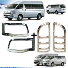 Chrome Front Headlight-Tail light Cover Set For Toyota Hiace Commuter 2011-2014