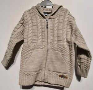 Boy Warm wool Top Zipped hoodie jumper beige Clothes Set 1 2 3 4 5 years