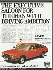 1979 LANCIA GAMMA BERLINA advertisement, British advert