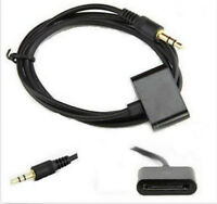 30 Pin Male Cable Stereo 3.5mm AUX input for iPod iPhone Dock Connector