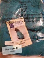 Pet Clothing Fringe Sweater Teal, Small, New In Package
