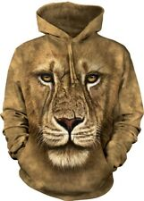 Lion Warrior Adult Big Cat Hoodie the Mountain