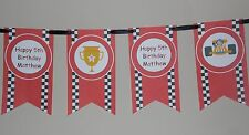 PERSONALISED FORMULA 1 RACING CAR STYLE BUNTING GREAT FOR BIRTHDAYS LOOK!!