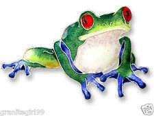 ZARAH Blue-Toed Frog Pin 925 Sterling Silver Enamel Amphibian Brooch Gift Boxed