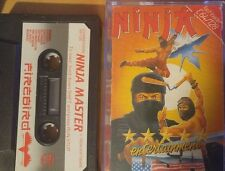 NINJA MASTER Commodore CASSETTA c64 (imballaggio, Manual, tape) 100% OK