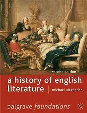A History of English Literature (Palgrave Foundations Series) - New Book Alexand