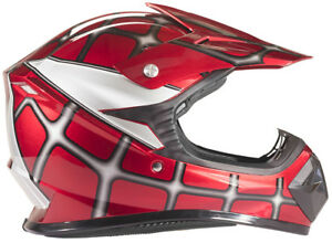Youth Kids Motocross Helmet Child DOT Red Spiderman ATV UTV MX OffRoad