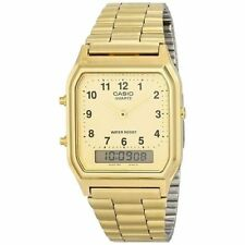 Casio Goldtone Bracelet Watch, Analog/Digital. Alarm, Chronograph, AQ230GA-9B