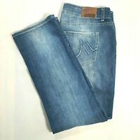 MAURICES Womens Mid Rise Straight Leg Jeans Medium Wash STRETCH Size 9/10 SHORT