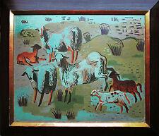 Neue Sachlichkeit Kay H. Nebel 1888-1953 Öl 1930, Schafe in blauer Nacht + Buch