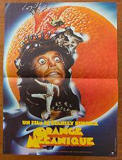 Affiche de cinéma : ORANGE MECANIQUE de STANLEY KUBRICK