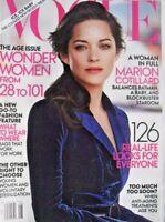 *MARION COTILLARD Keith Richards Patti Hansen JOAN SMALLS Mary Soames 2012 Vogue
