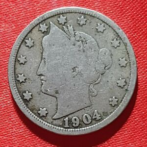 1904 Liberty V Nickel  - Very Good Condition