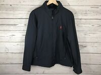 Polo Ralph Lauren Mens Navy Hooded Winter Jacket Coat Windbreaker Size Large NWT