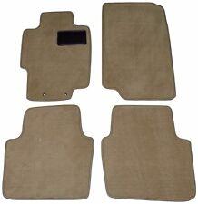 2004 - 2008 Acura TL Beige Tan Car Floor Mats 4 PC MAT SET w/ Black DS Heel Pad