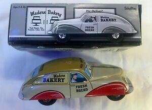 Modern Bakery Friction Motor Tin Car by Schylling - Car + Box