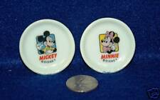 Mickey, Minnie Mouse Mini Porcelain Plates