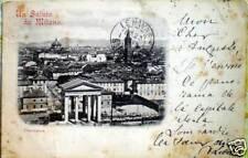 1900 cartolina Un saluto da MILANO Panorama - 212