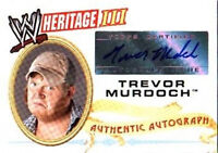 WWE Trevor Murdoch 2007 Topps Heritage III Authentic Autograph Card WWF DWC