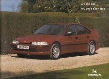 Honda Accord Saloon Accessories 1993-94 UK Market Sales Brochure