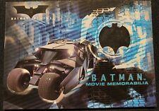 Batman Begins 2005 Topps Movie Memorabilia Costume Card Batmobile Tire