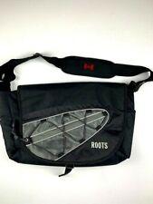 ROOTS Flap Traveler Messenger Shoulder Bag 43L x 30W x 14D Black