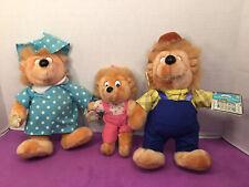 Nwt-Vinatge- Applause Berenstain Bears Plush 11� Papa & Mama And 8.5� Sister