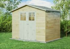 Gartentiger Gartenhaus Lodum Holz B262 x T202cm 12mm Satteldach Gerätehaus Laube